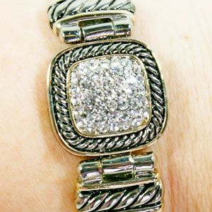 Jewelry - Art Deco Crystal Rhinestone Magnetic Bracelet